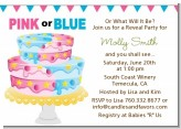 Gender Reveal Cake - Baby Shower Invitations