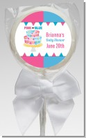 Gender Reveal Cake - Personalized Baby Shower Lollipop Favors