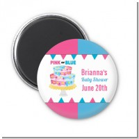 Gender Reveal Cake - Personalized Baby Shower Magnet Favors