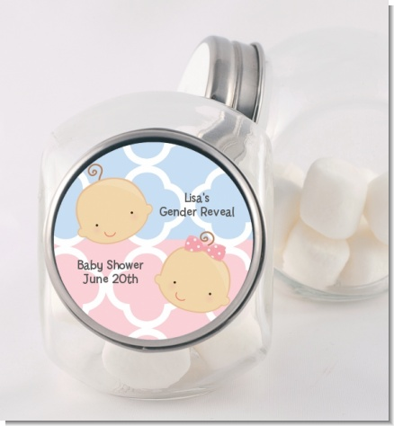 Gender Reveal - Personalized Baby Shower Candy Jar