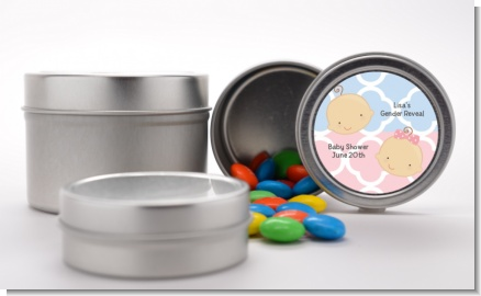 Gender Reveal - Custom Baby Shower Favor Tins