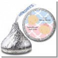 Gender Reveal - Hershey Kiss Baby Shower Sticker Labels thumbnail