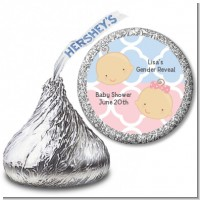 Gender Reveal - Hershey Kiss Baby Shower Sticker Labels