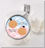 Gender Reveal Hispanic - Personalized Baby Shower Candy Jar