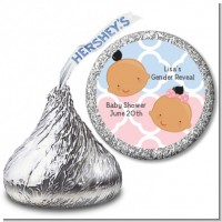 Gender Reveal Hispanic - Hershey Kiss Baby Shower Sticker Labels