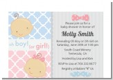 Gender Reveal - Baby Shower Petite Invitations