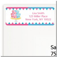 Gender Reveal Cake - Baby Shower Return Address Labels