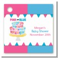 Gender Reveal Cake - Personalized Baby Shower Card Stock Favor Tags thumbnail