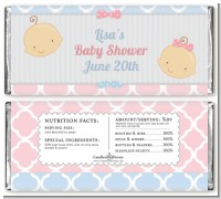 Gender Reveal - Personalized Baby Shower Candy Bar Wrappers