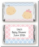 Gender Reveal - Personalized Baby Shower Mini Candy Bar Wrappers