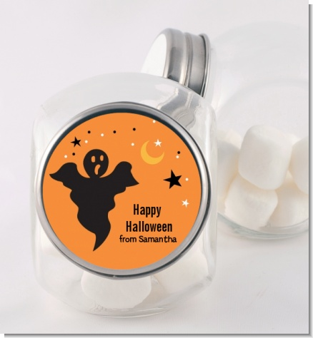 Ghost - Personalized Halloween Candy Jar