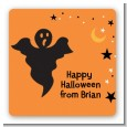 Ghost - Square Personalized Halloween Sticker Labels thumbnail