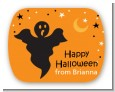 Ghost - Personalized Halloween Rounded Corner Stickers thumbnail