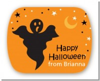 Ghost - Personalized Halloween Rounded Corner Stickers