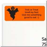Ghost - Halloween Return Address Labels