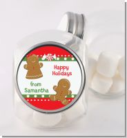 Gingerbread - Personalized Christmas Candy Jar