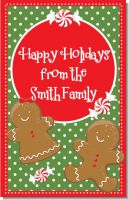 Gingerbread Party - Personalized Christmas Wall Art