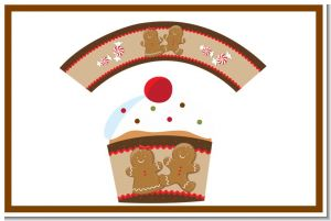Gingerbread - Christmas Cupcake Wrappers