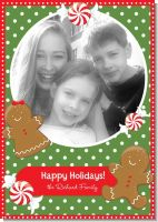 Gingerbread Party - Personalized Photo Christmas Cards