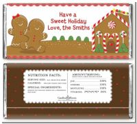 Gingerbread House - Personalized Christmas Candy Bar Wrappers