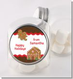 Gingerbread House - Personalized Christmas Candy Jar