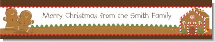 Gingerbread House - Personalized Christmas Banners