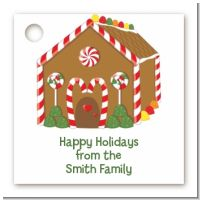 Gingerbread House - Personalized Christmas Card Stock Favor Tags