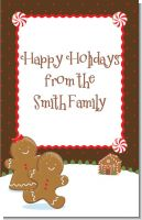 Gingerbread House - Personalized Christmas Wall Art