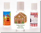 Gingerbread House - Personalized Christmas Hand Sanitizers Favors