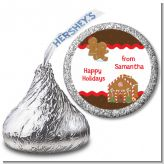 Gingerbread House - Hershey Kiss Christmas Sticker Labels
