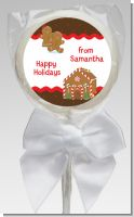 Gingerbread House - Personalized Christmas Lollipop Favors