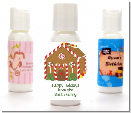 Gingerbread House - Personalized Christmas Lotion Favors
