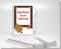 Gingerbread House - Baby Shower Personalized Notebook Favor