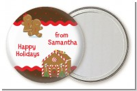 Gingerbread House - Personalized Christmas Pocket Mirror Favors