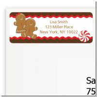 Gingerbread - Christmas Return Address Labels