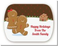 Gingerbread House - Personalized Christmas Rounded Corner Stickers