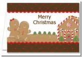 Gingerbread House - Christmas Thank You Cards