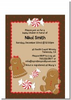 Gingerbread - Christmas Petite Invitations