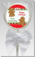 Gingerbread - Personalized Christmas Lollipop Favors