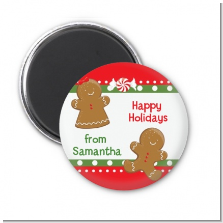 Gingerbread - Personalized Christmas Magnet Favors