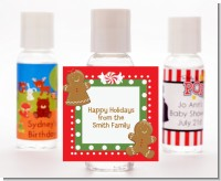 Gingerbread Party - Personalized Christmas Hand Sanitizers Favors