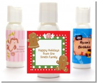 Gingerbread Party - Personalized Christmas Lotion Favors