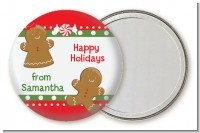 Gingerbread - Personalized Christmas Pocket Mirror Favors