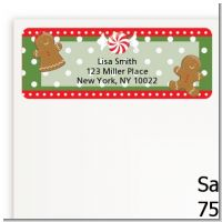 Gingerbread Party - Christmas Return Address Labels