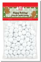 Gingerbread Party - Custom Christmas Treat Bag Topper