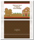 Gingerbread House - Personalized Popcorn Wrapper Christmas Favors