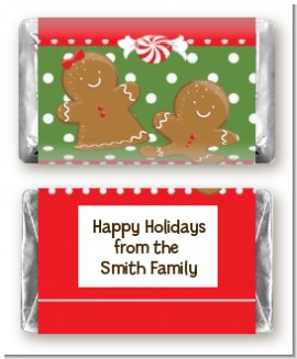 Gingerbread Party - Personalized Christmas Mini Candy Bar Wrappers