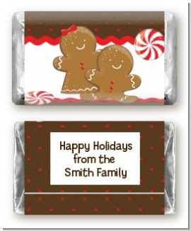 Gingerbread - Personalized Christmas Mini Candy Bar Wrappers