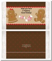 Gingerbread - Personalized Popcorn Wrapper Christmas Favors