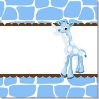 Giraffe Blue Baby Shower Theme